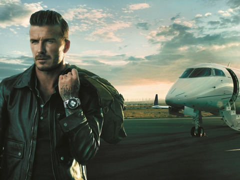 Hot Pics! David Beckham Models New Travel Watch