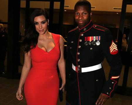 Pic! Kim Kardashian Attends Marine Corps Ball