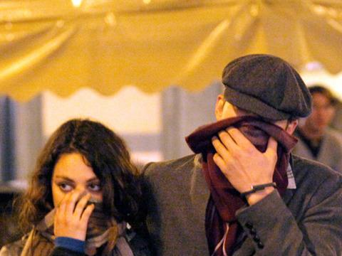 Ashton Kutcher and Mila Kunis on Romantic Roman Holiday