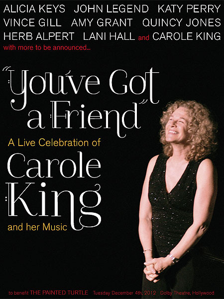 Stars Line Up for 'Celebration of Carole King and Her Music'