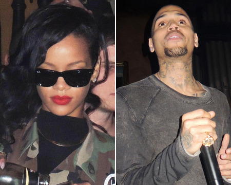 Rihanna Spends Thanksgiving with Chris Brown