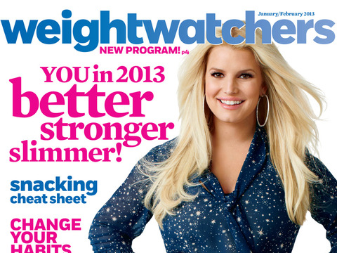 Jessica Simpson Positively Glows on Weight Watchers Cover