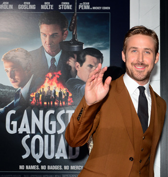 Video! Ryan Gosling and Russell Brand Go 'Gangster' at 'Squad' Premiere