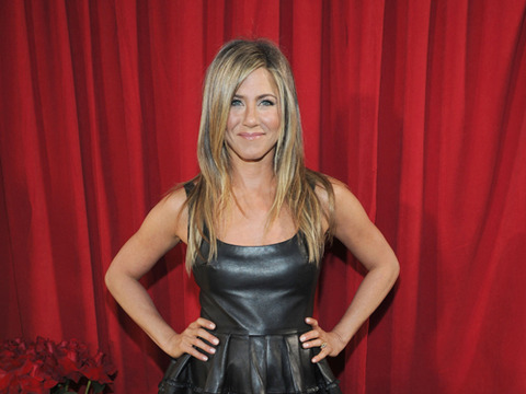 Extra Scoop: Jennifer Aniston's Leather Dress