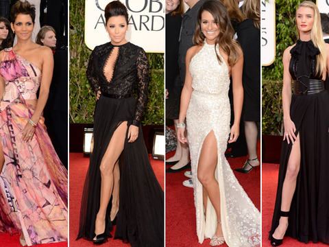 Golden Globes Red Carpet Trends: Leg Bombing is Back!