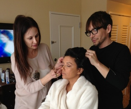 Eva Longoria Gets Ready for Globes