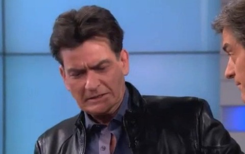 Dr. Oz Shocks Charlie Sheen by Showing Him a Smoker's Lung
