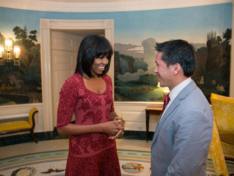 Pic! Michelle Obama Rocks Some Cool Bangs