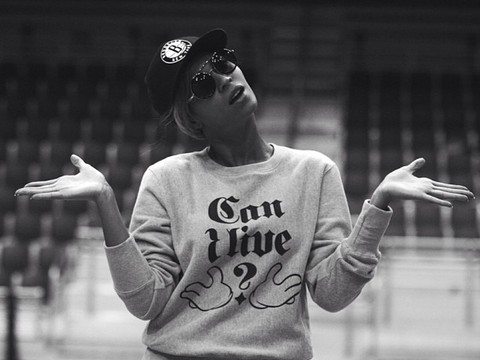 Pics! Beyoncé Preps for Super Bowl Halftime Extravaganza!