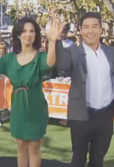 'Extra' Raw! Hilaria and Mario Do the Ray Lewis Dance
