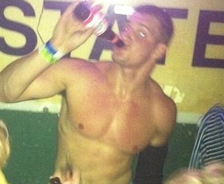 Rob Gronkowski Hits LSU Party Scene Shirtless