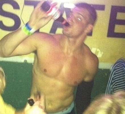 Rob Gronkowski Hits LSU Party Scene Shirtless