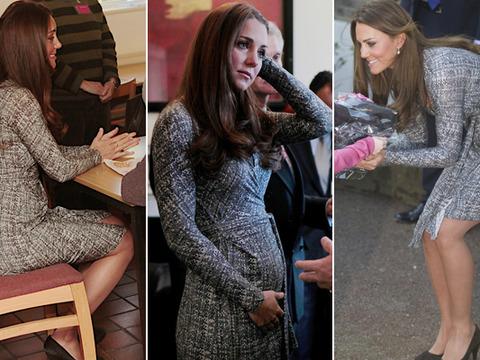 Pics! Kate Middleton Shows Off Royal Baby Bump