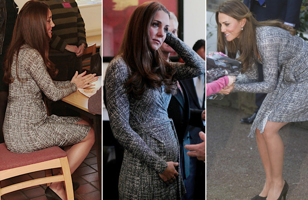 Pics! Kate Middleton Shows Off Royal Baby Bump