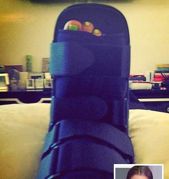 Kelly Osbourne Sprains Ankle to Avoid Falling Into Public Toilet
