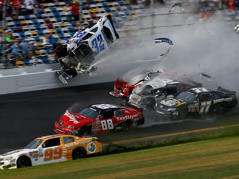 Video! Footage of the Fiery Crash at the NASCAR Daytona Race