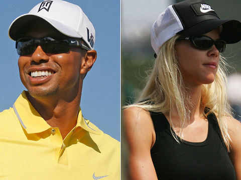 Tiger Woods and Elin Nordegren Photographed Together in Florida