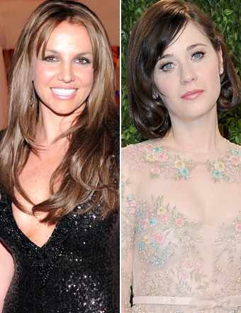 Oscars: Britney Spears Goes Brunette, Zooey Deschanel Debuts Short Hair