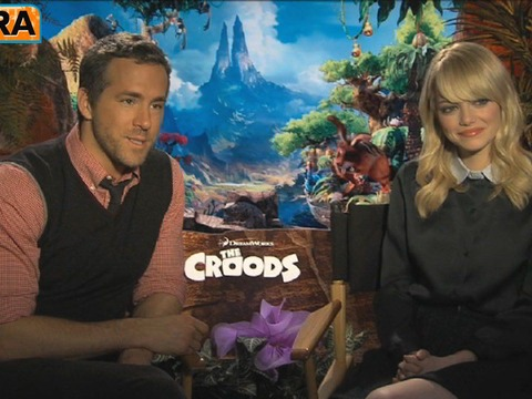 Video! Emma Stone and Ryan Reynolds on 'The Croods'