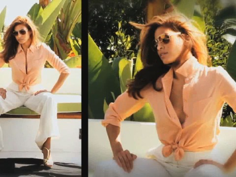 Go Behind the Scenes of Eva Mendes' Vogue Eyewear Campaign