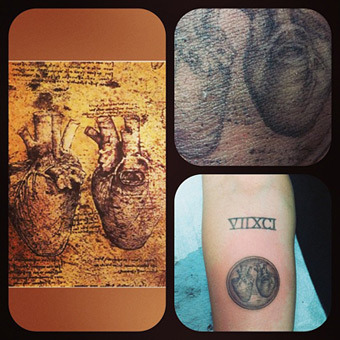 Pic! Miley Cyrus' New Heart Tattoo Courtesy of Kat Von D