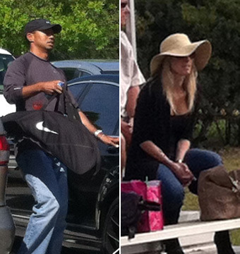 Tiger and Elin Watch Soccer Game, Lindsey Vonn Waits in Car!