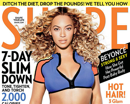 Beyoncé Shows Off Belly Ring in Sexy 'Shape' Cover