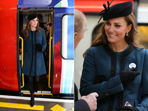 'Baby on Board': Kate Middleton and Queen Attend Subway Celebration