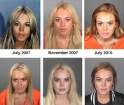 Vote! Which Lindsay Lohan Mug Shot is Your Favorite?