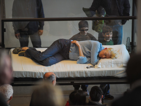 Actress Tilda Swinton Sleeps in Box for Art Installation