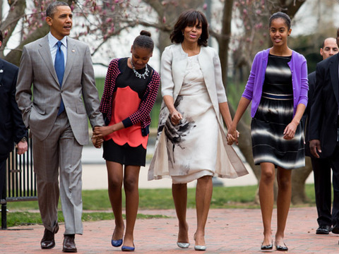 Pic! Michelle Obama Repeats Prabal Gurung Outfit for Easter Sunday