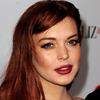 Lindsay Lohan Portrait Made of Trash