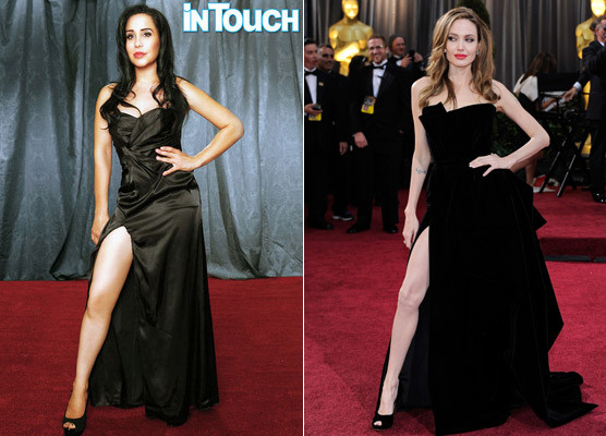 Octomom's Bizarre Photo Tribute to Angelina Jolie -- Is She Obsessed?