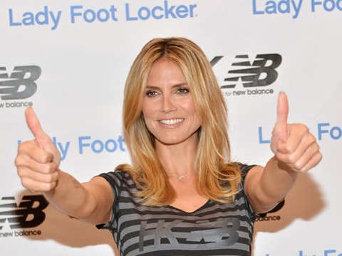 The Scoop on Heidi Klum's Tabletop Dance Moves