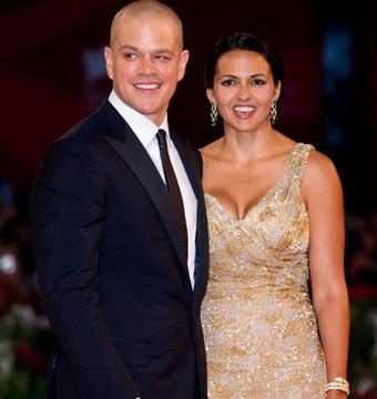 Matt Damon and Wife Luciana Renew Wedding Vows
