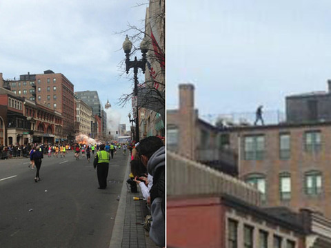 Pic! Mystery Man Spotted on Roof During Boston Bombing