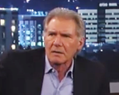 Video! Harrison Ford Chews Out Chewbacca on 'Kimmel'