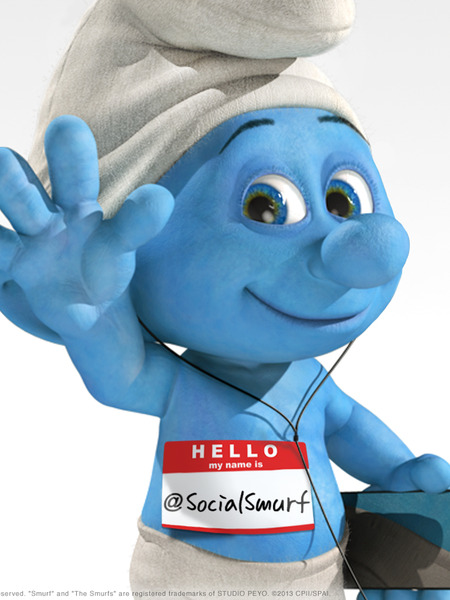Pic! Introducing Mario as Social Smurf