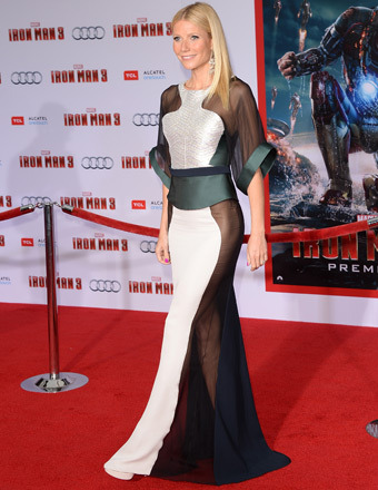 Gwyneth Paltrow Wows in Sexy See-Thru at 'Iron Man 3' Premiere