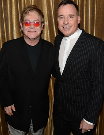 Elton John and David Furnish Reveal Baby Elijah's Godmother
