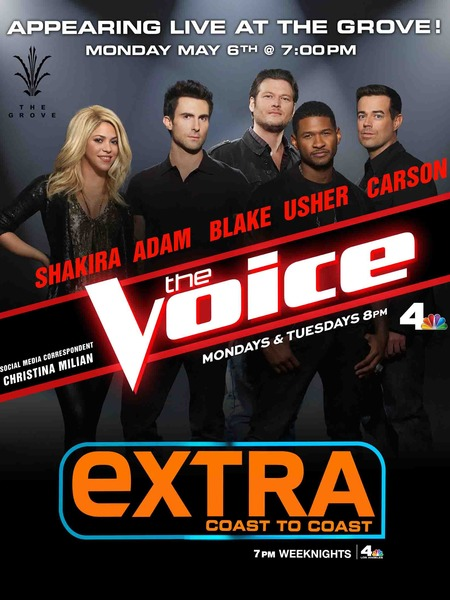 'Extra' Special Event: 'The Voice' at The Grove!