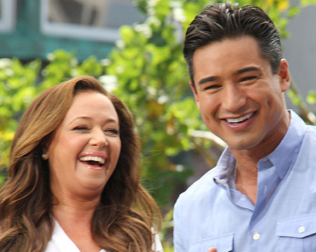 'Saved by the Bell' Reunion: Mario Lopez and Leah Remini at The Grove!