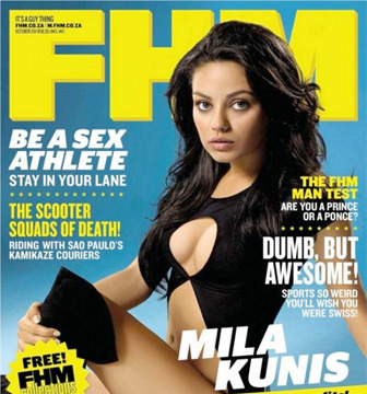 Mila Kunis Crowned FHM's Sexiest Woman in the World