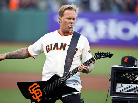 Video! Metallica Performs National Anthem at San Francisco Giants Game