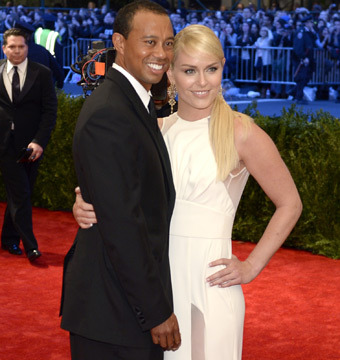 Tiger Woods and Lindsey Vonn Make First Public Appearance at Met Gala