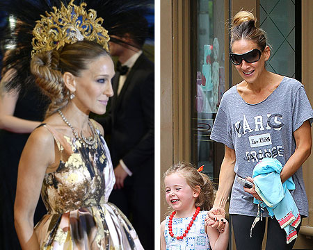 Pics! Sarah Jessica Parker and Jessica Alba the Day After the Met Gala