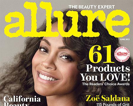Zoe Saldana's Weight Revealed on Allure Cover