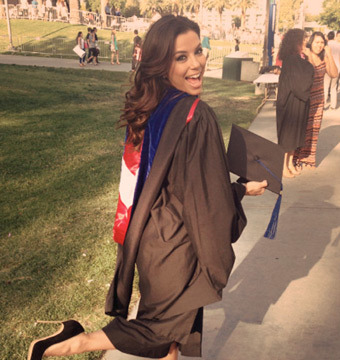 Eva Longoria Earns a Master's Degree!