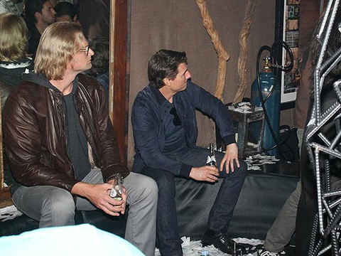 Tom Cruise Checks Out Son Connor's DJ Skills