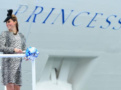 Video! Kate Middleton Christens Ship Before Taking Maternity Leave